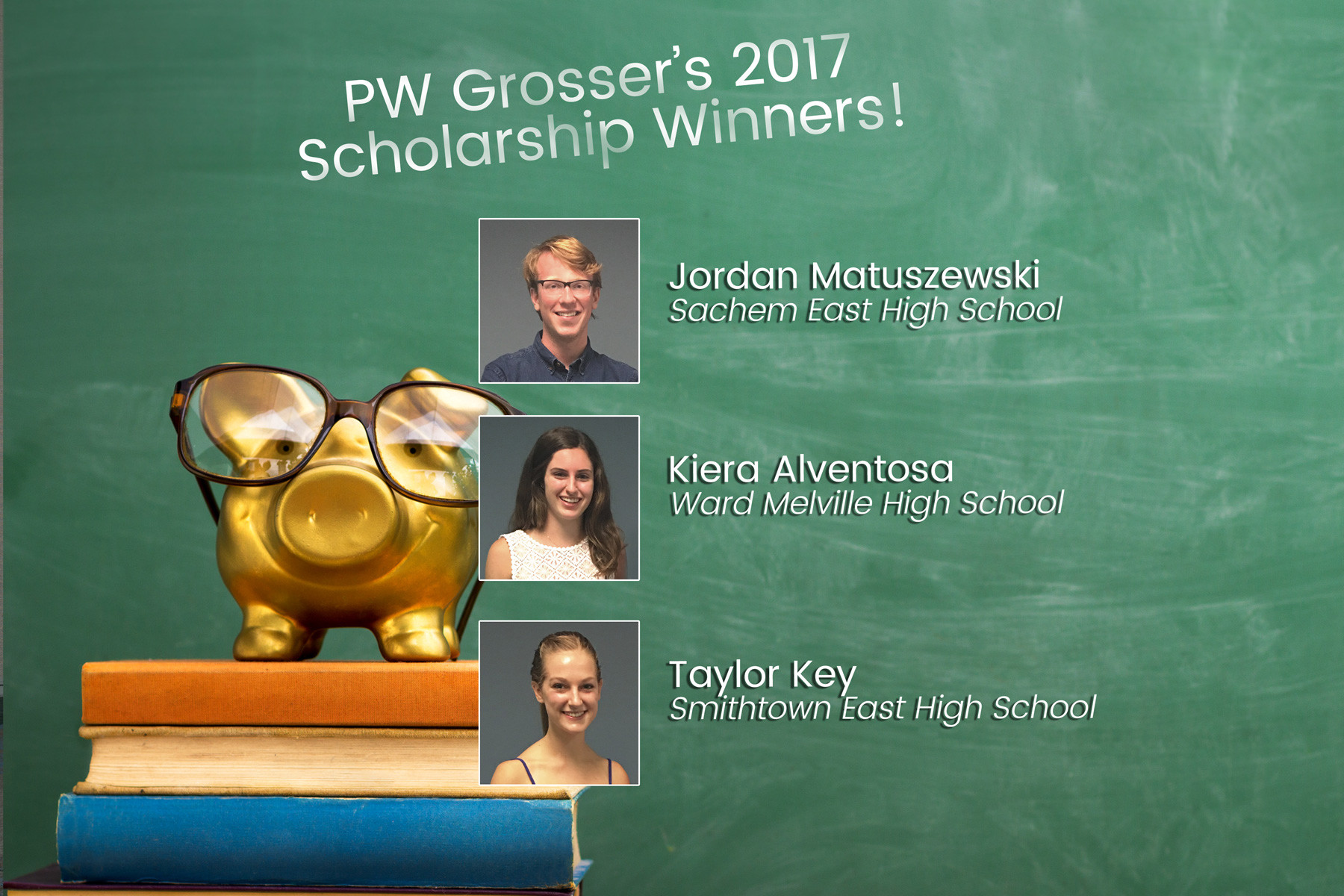 PW Grosser 2017 Scholarship winners