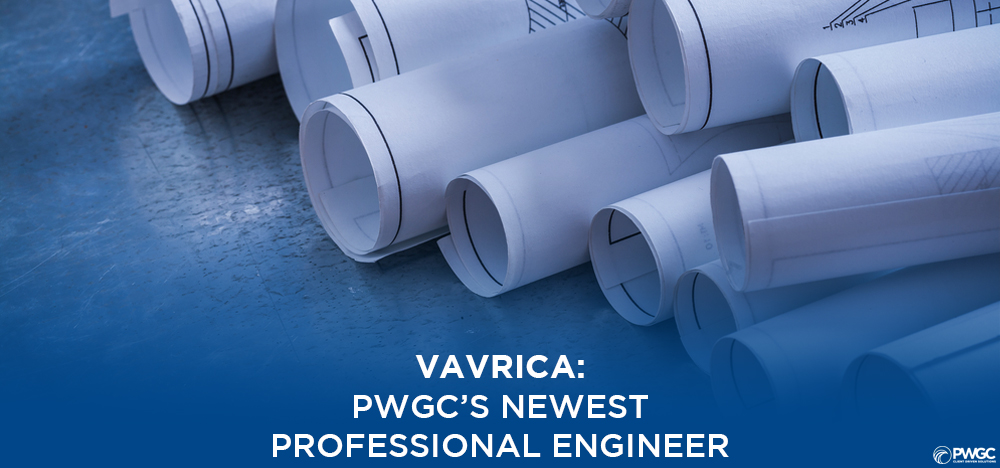Maggie Vavrica is PWGC's newest New York State Licensed Professional Engineer