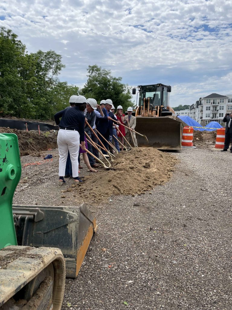 Goundbreaking Ceremony at Garvies Point for New Affordable Housing Site