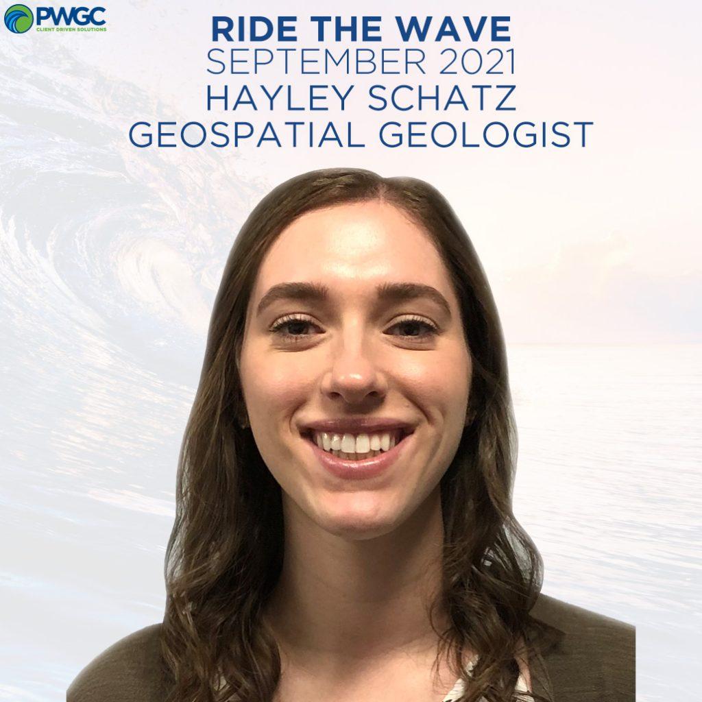 Ride the Wave Award September 2021 - Hayley Schatz, Geospatial Geologist